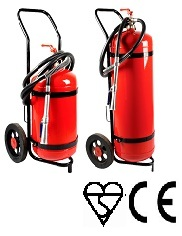 Trolley Mounted Dry Powder Fire Extinguisher